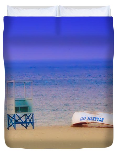 Deserted Beach Duvet Cover by Bill Cannon