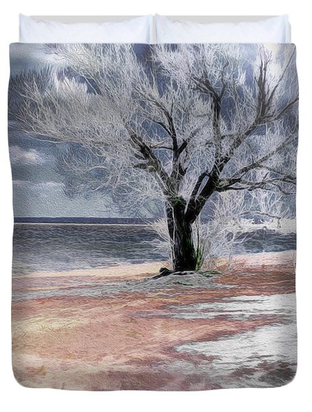 Deserted Beach Duvet Cover by Pennie  McCracken