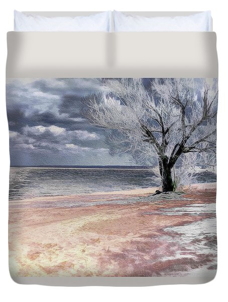Deserted Beach Duvet Cover