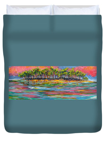 Deserted Island Duvet Cover by Anne Marie Brown
