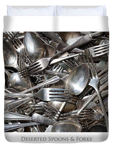 Deserted Spoons And Forkes Duvet Cover
