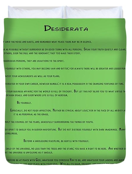 Desiderata . Double Abstract Duvet Cover
