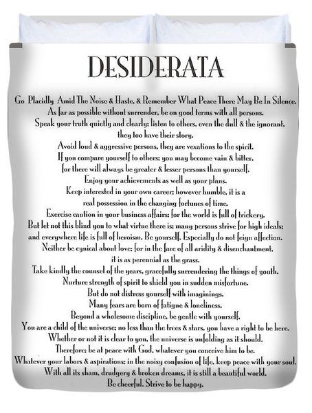 Desiderata 5 Duvet Cover by Desiderata Gallery