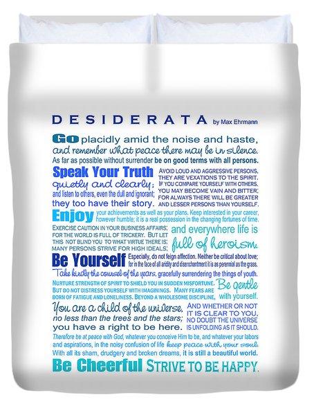 Desiderata - Blues - Rectagular Format Duvet Cover