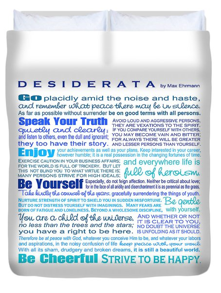 Desiderata - Blues - Square Format Duvet Cover