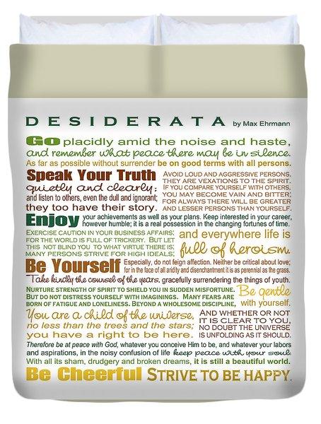 Desiderata - Earthtones - Square Format Duvet Cover