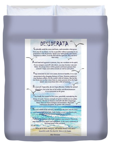 Desiderata Duvet Cover
