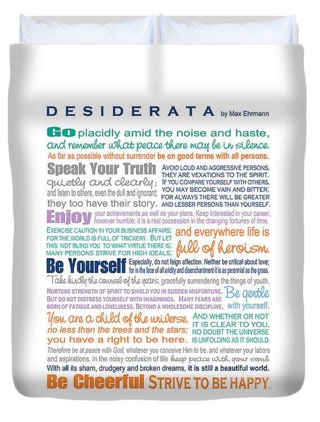 Desiderata - Multi-color - Rectangular Format Duvet Cover