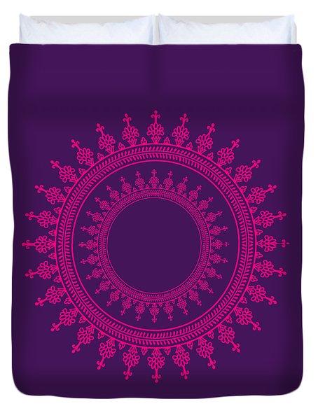 Design In Pink Duvet Cover by Art Spectrum