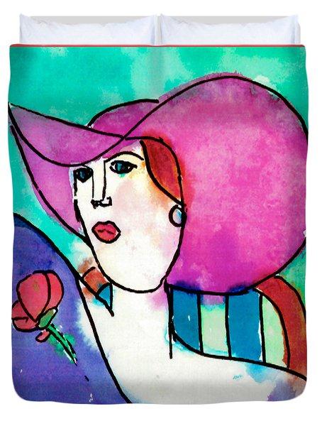 Design Lady Duvet Cover by Jessie Abrams Age Eleven