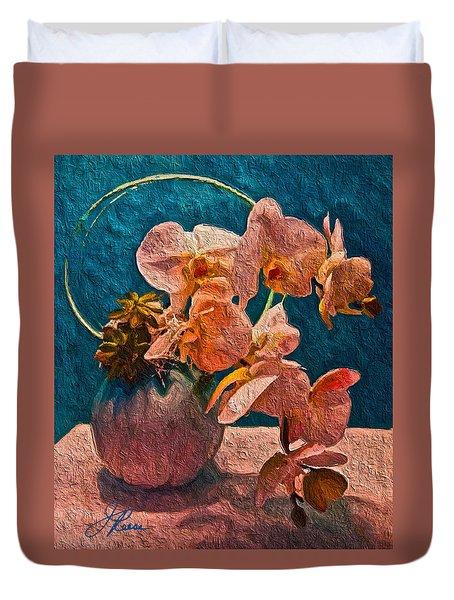 Designer Floral Arrangement Duvet Cover