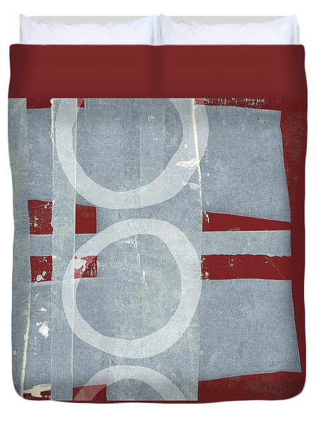 Duvet Cover featuring the photograph Designer Series Red And Blue 3 Of 11 by Carol Leigh