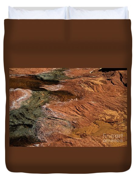 Designs In Stone Duvet Cover by Kathy McClure