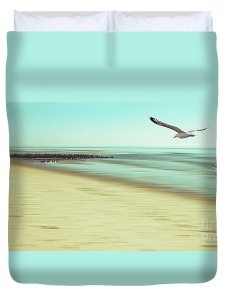 Duvet Cover featuring the photograph Desire Light Vintage2 by Hannes Cmarits