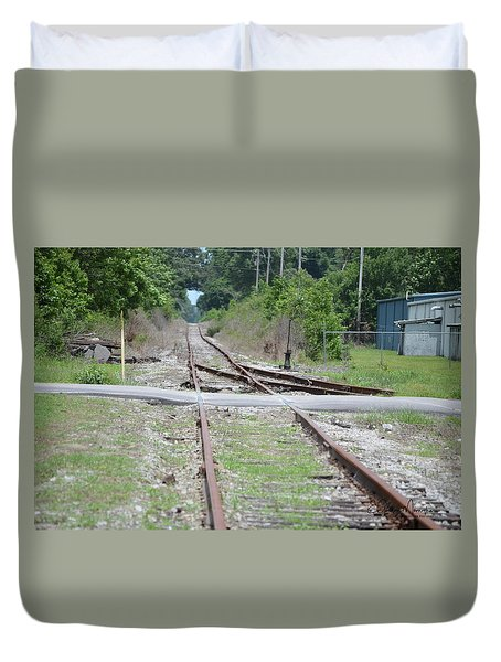 Desolate Rails Duvet Cover