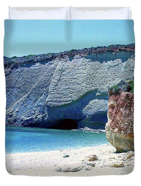 Desolated Island Beach Duvet Cover