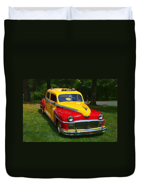 Desoto Skyview Taxi Duvet Cover by Garry Gay