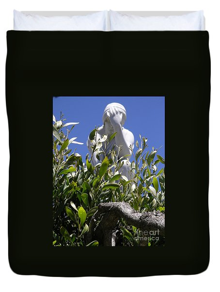 Duvet Cover featuring the photograph Despair by Cynthia Marcopulos