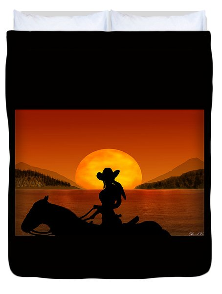 Duvet Cover featuring the digital art Desperado by Bernd Hau
