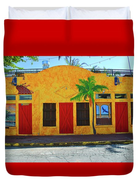 Duvet Cover featuring the photograph Desperado Palm by Jost Houk