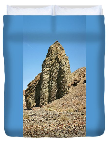 Dessicated Landscape In Death Valley National Monument Duvet Cover