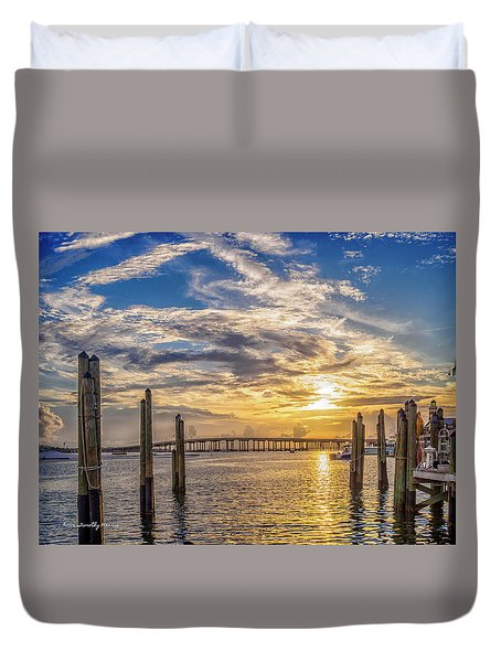 Destin Harbor #1 Duvet Cover