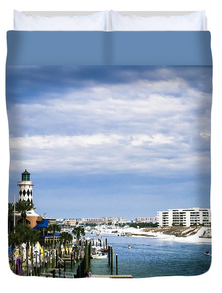 Destin Harbor  Duvet Cover