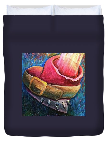 Duvet Cover featuring the painting Destiny Calling by Lisa DuBois