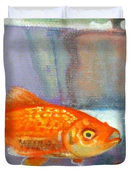 detail goldfish of Fishing Duvet Cover