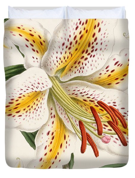 Detail Of A Lily Duvet Cover