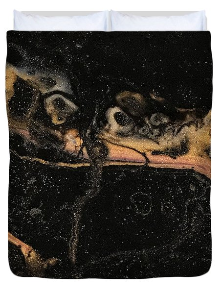 Duvet Cover featuring the painting Detail Of New Orleans Saxophone by Robbie Masso