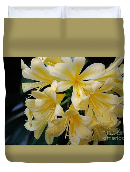 Duvet Cover featuring the photograph Details In Yellow And White by John S