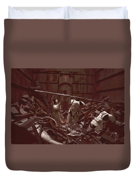 Garbage Compactor 3263827 Duvet Cover