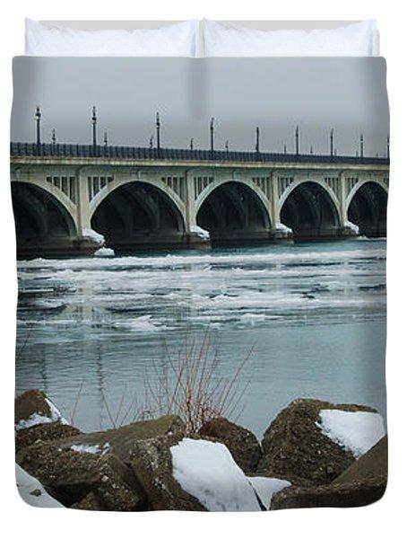 Detroit Belle Isle Bridge Duvet Cover