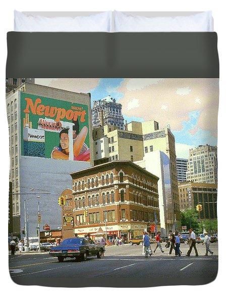Detroit Michigan 84 - Watercolor Duvet Cover