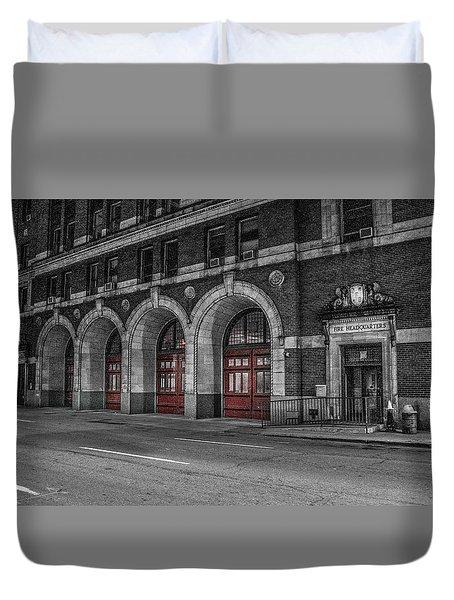 Detroit Fire Department Headquarters  Duvet Cover