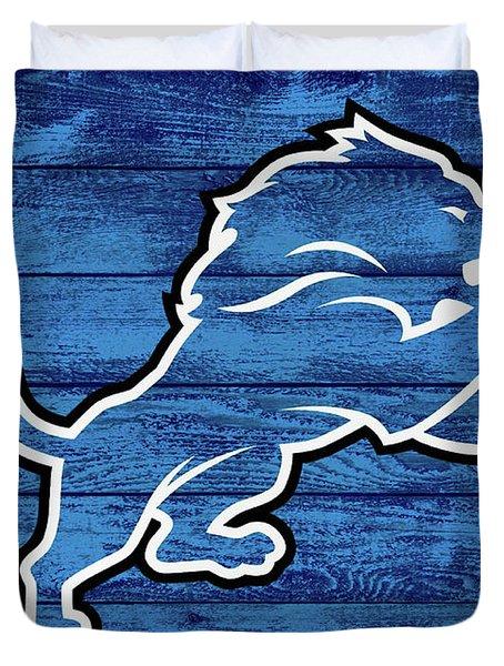 Detroit Lions Barn Door Duvet Cover