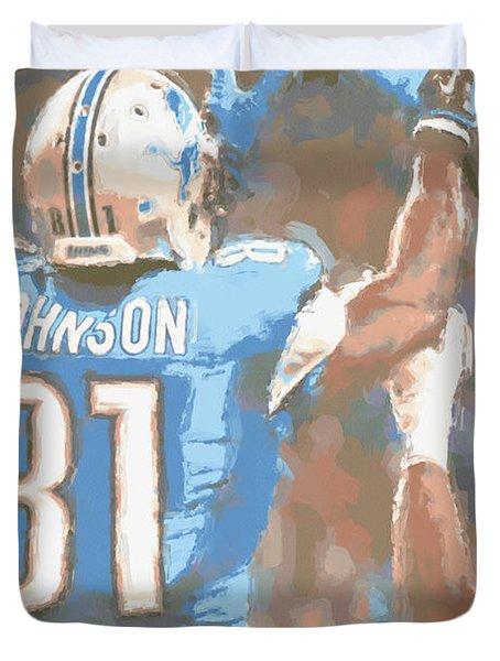 Detroit Lions Calvin Johnson 2 Duvet Cover