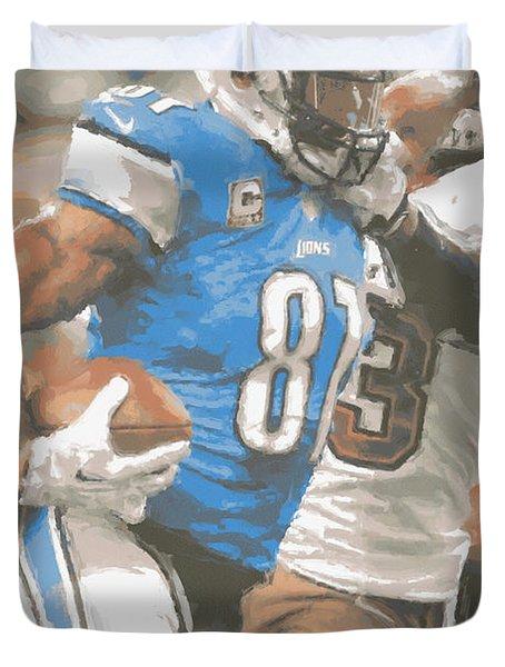 Detroit Lions Calvin Johnson 4 Duvet Cover