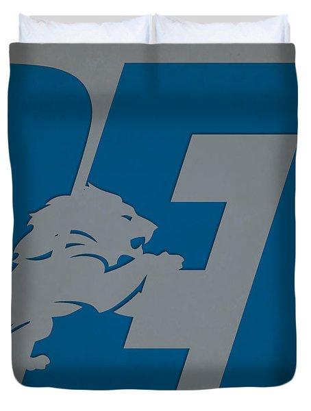 Detroit Lions City Name Duvet Cover