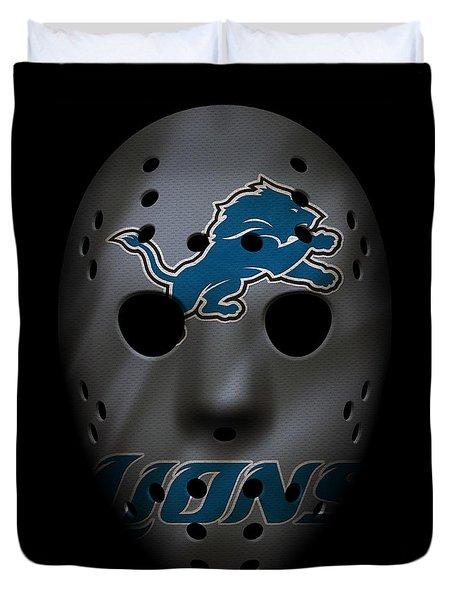 Detroit Lions War Mask 3 Duvet Cover
