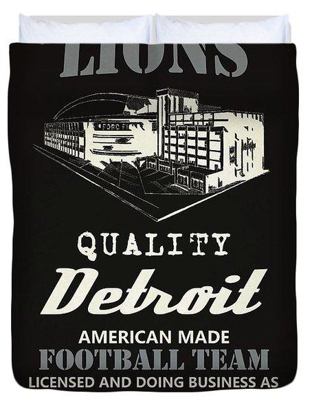Detroit Lions Whiskey Duvet Cover