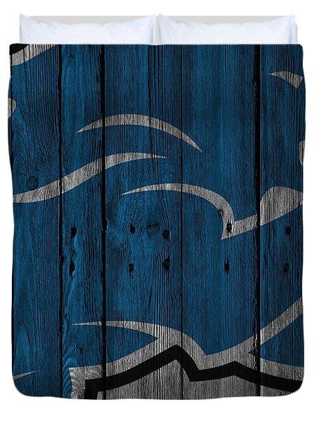 Detroit Lions Wood Fence Duvet Cover