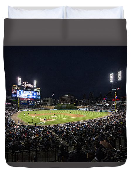 Detroit Tigers Comerica Park Lower Level 1 Duvet Cover by David Haskett