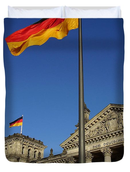 Deutscher Bundestag Duvet Cover by Flavia Westerwelle