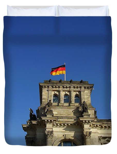 Deutscher Bundestag II Duvet Cover by Flavia Westerwelle