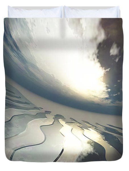 Deviating World Duvet Cover by Richard Rizzo