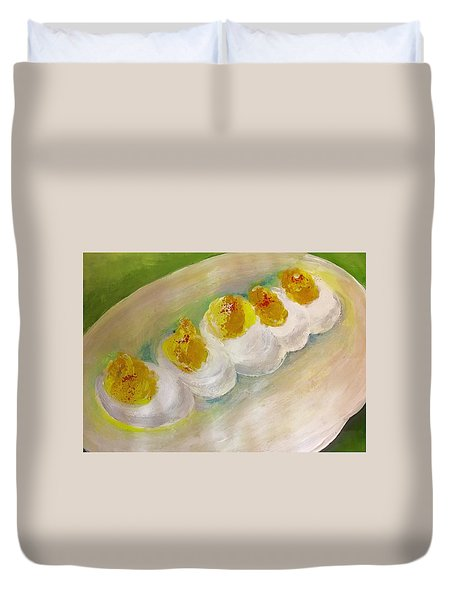 Devilled Eggs Duvet Cover