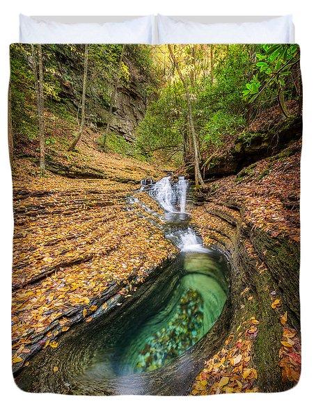 Devils Bathtub Autumn Duvet Cover