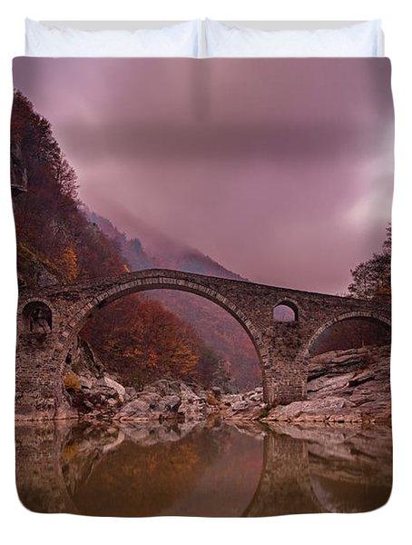 Devil's Bridge Duvet Cover by Evgeni Dinev